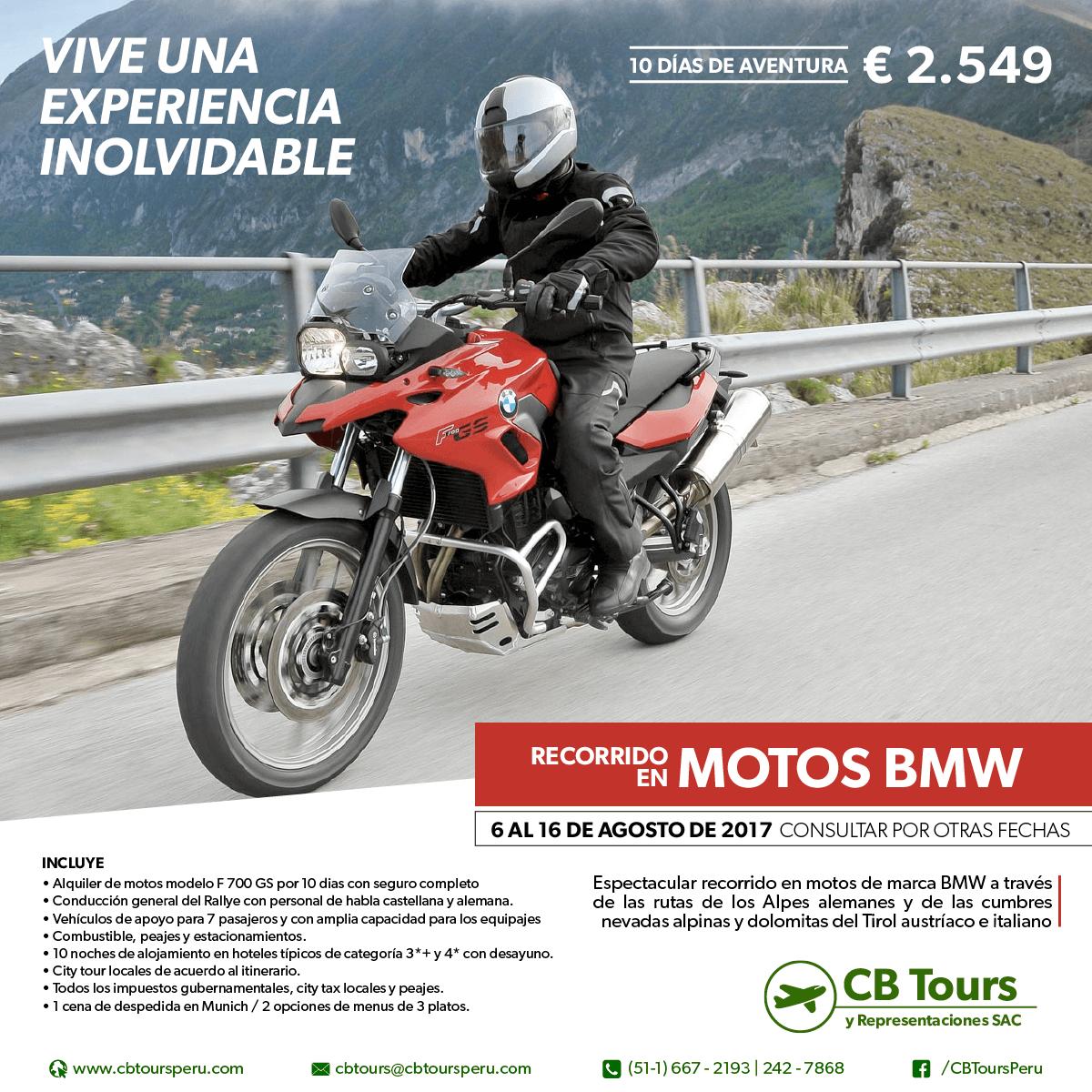 Tour en moto por los Alpes Alemanes, CB TOURS