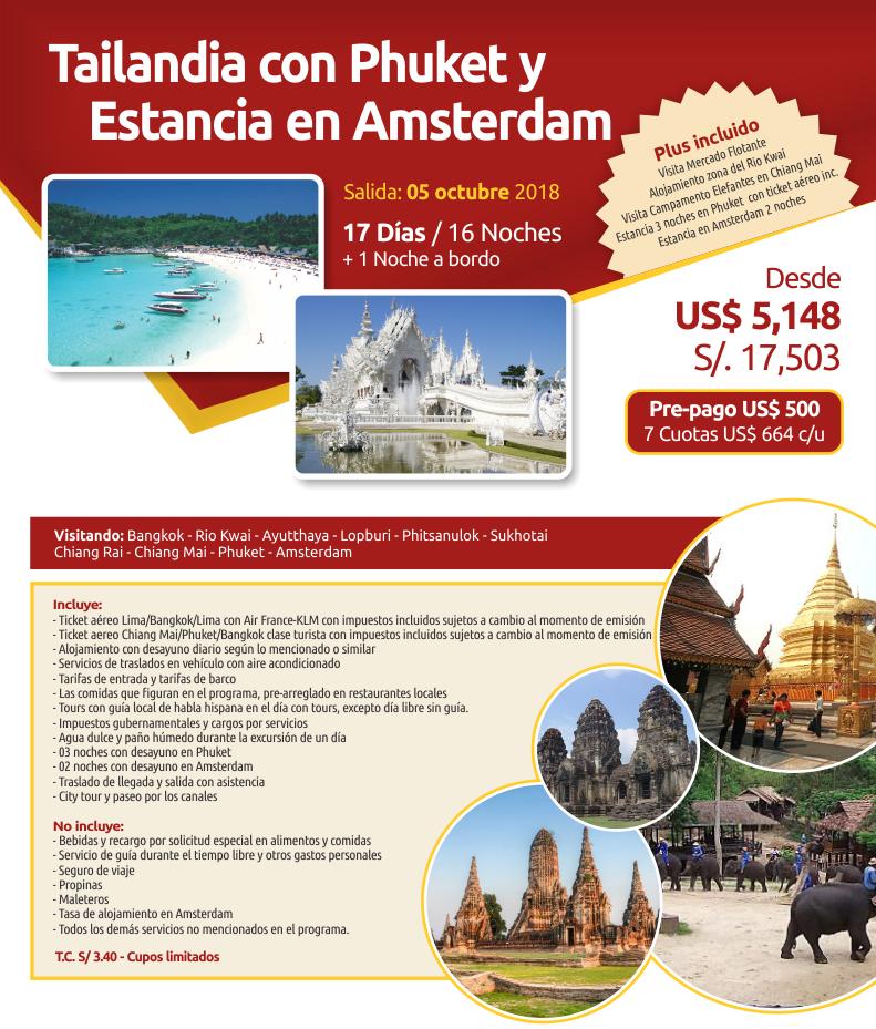 Descubre en un maravilloso viaje Tailandia, Phuket y Ámsterdam con Carrusel Travel