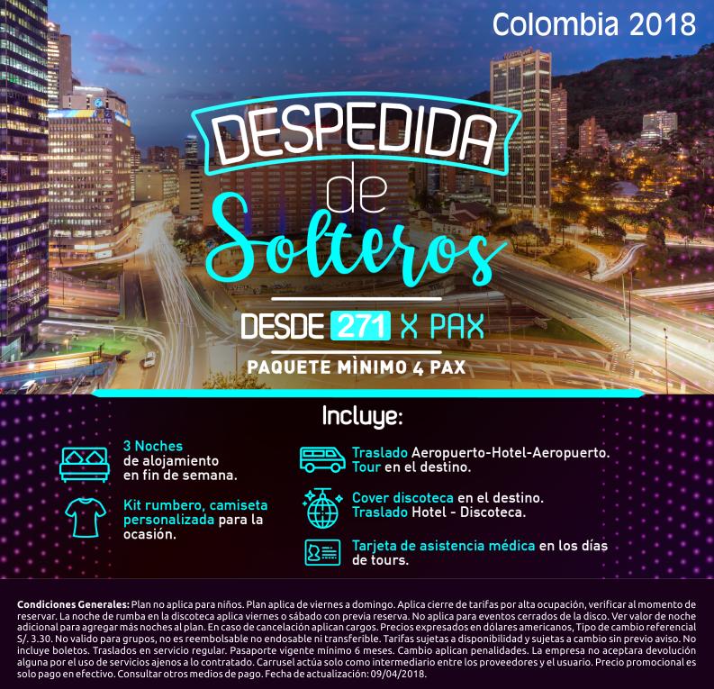 Despedida de solteros en Colombia con Carrusel Travel
