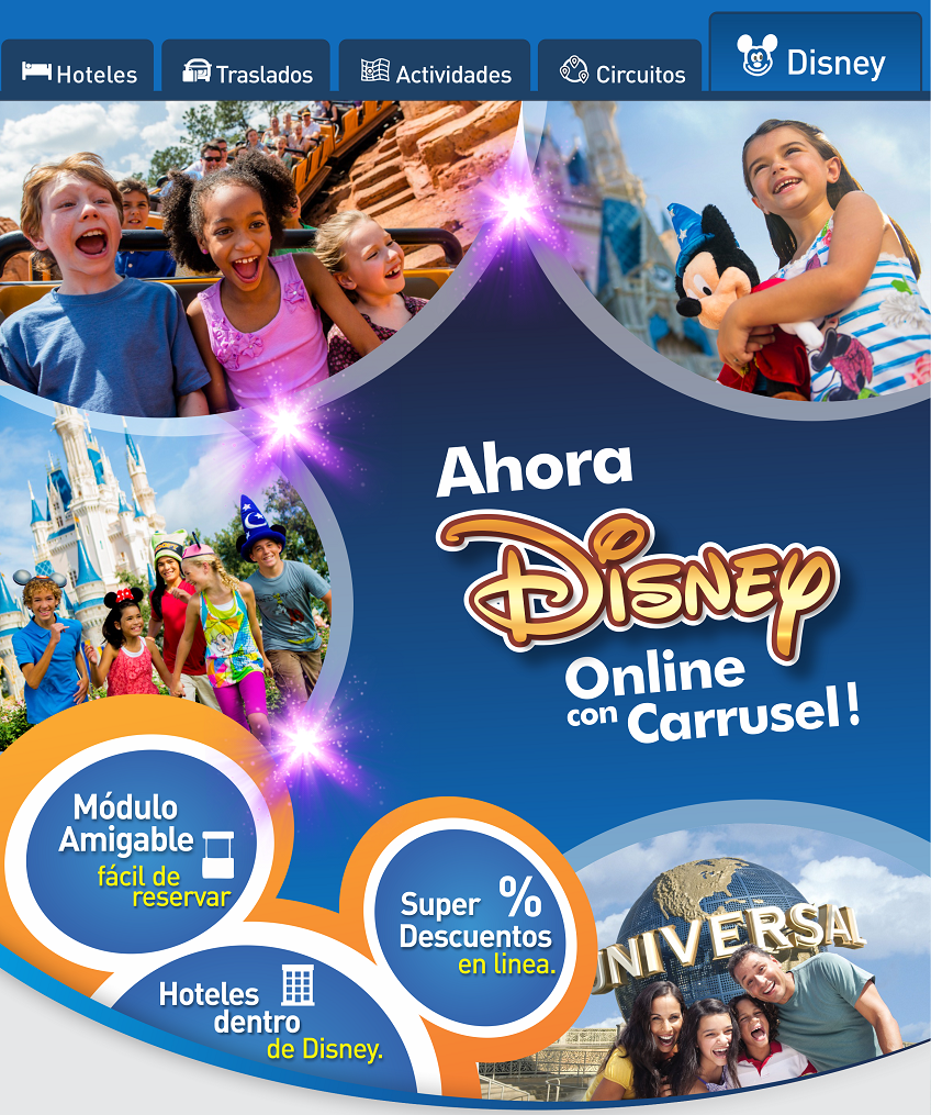 Disney online con Carrusel Travel