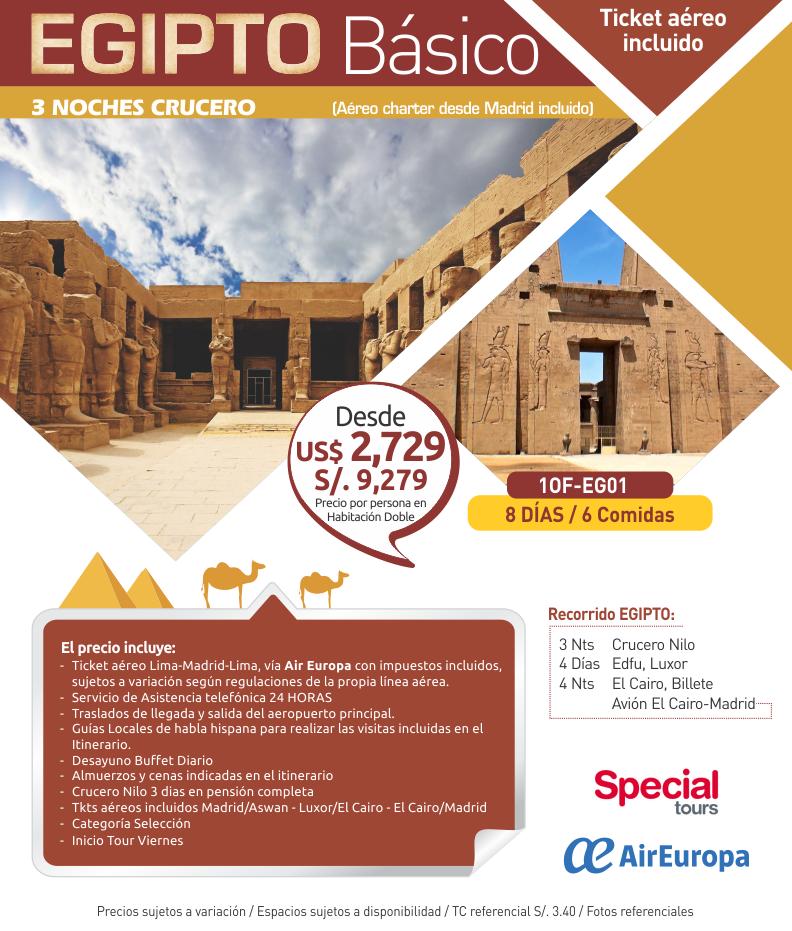 Egipto con aéreo, 3 noches de crucero con Carrusel travel y Special Tours