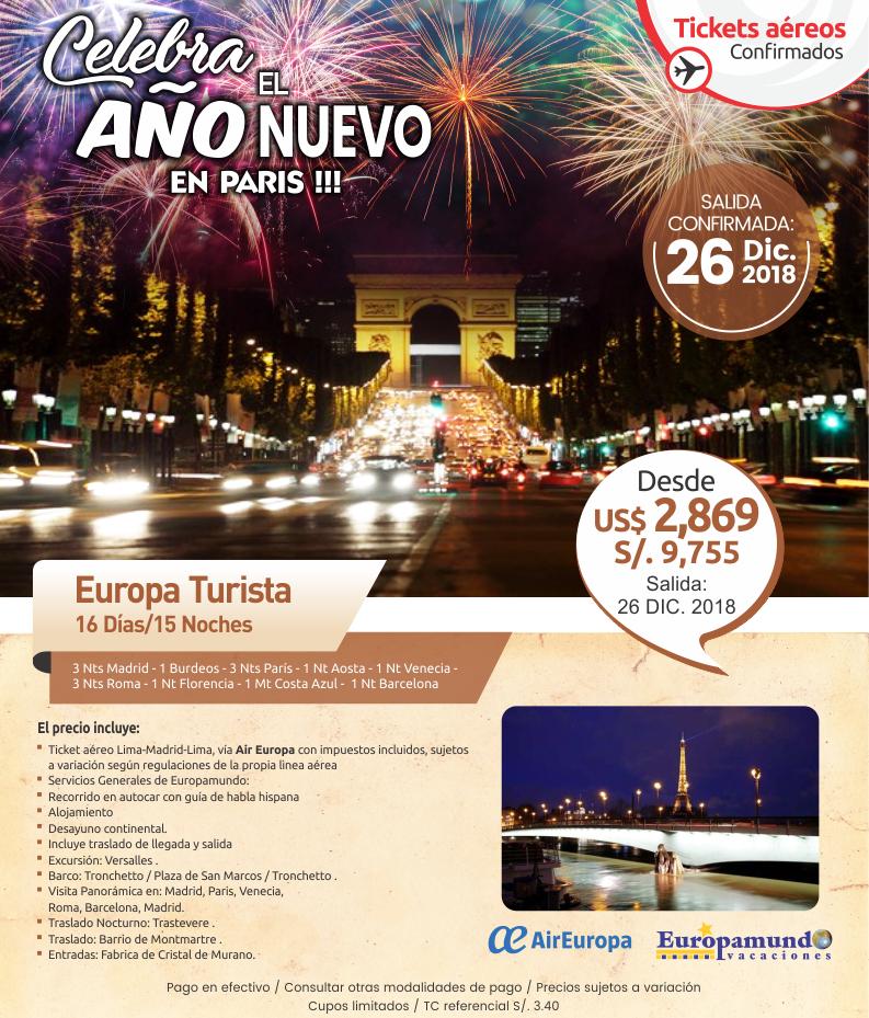 Año nuevo en Paris con Carrusel travel y Europamundo