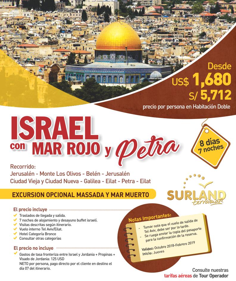 Israel con Mar Rojo y Petra con Carrusel Travel