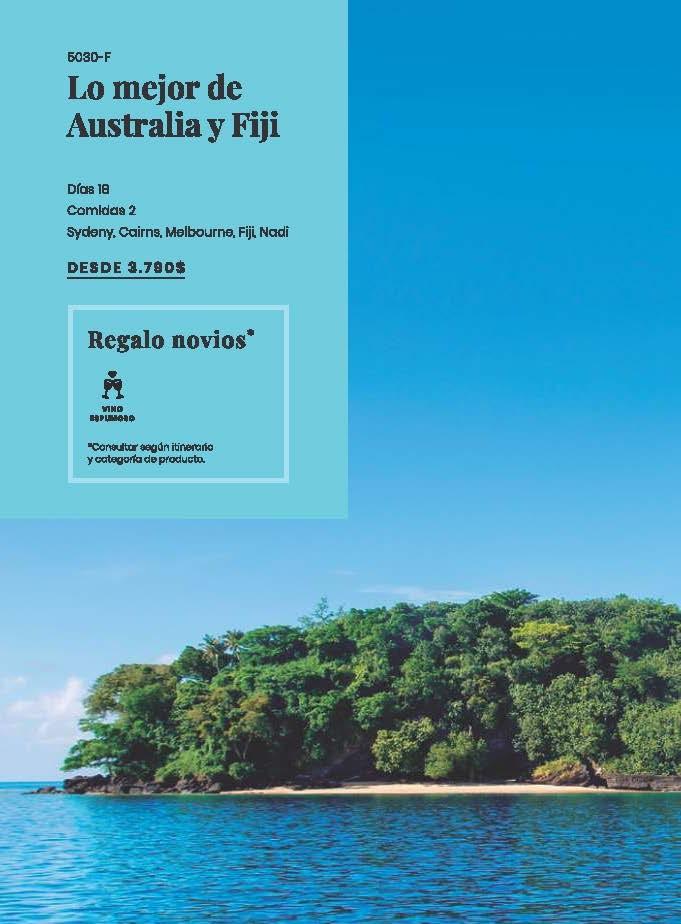 Vive tu Luna de miel en Australia o Fiji con Carrusel Travel