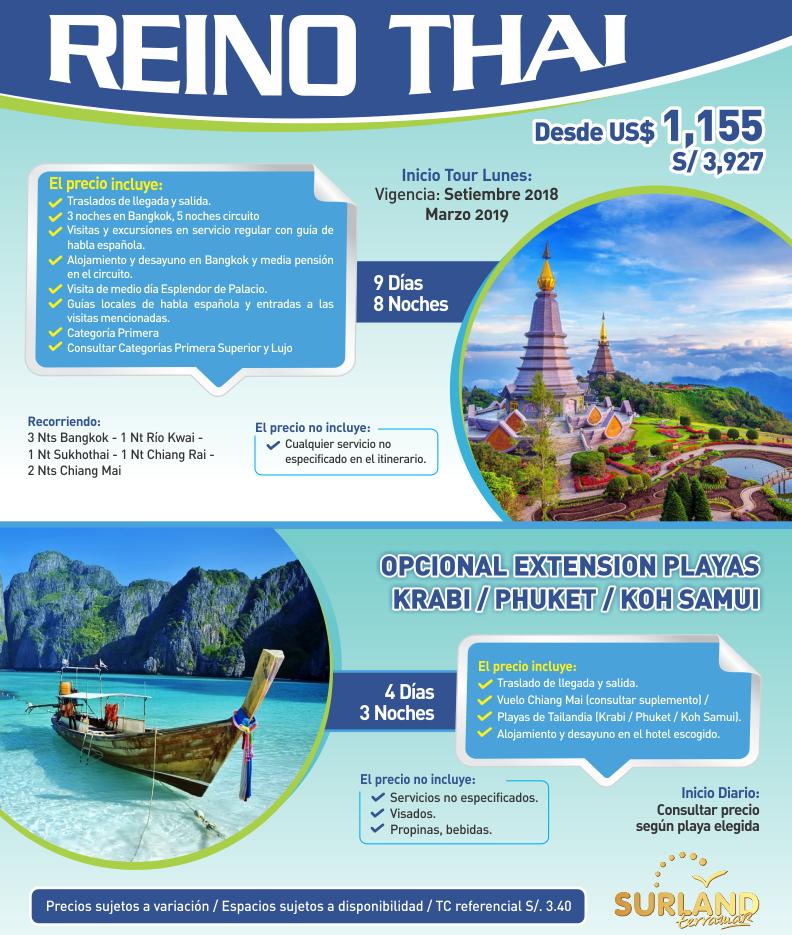Descubre el Reino Thai con Carrusel Travel y Surland