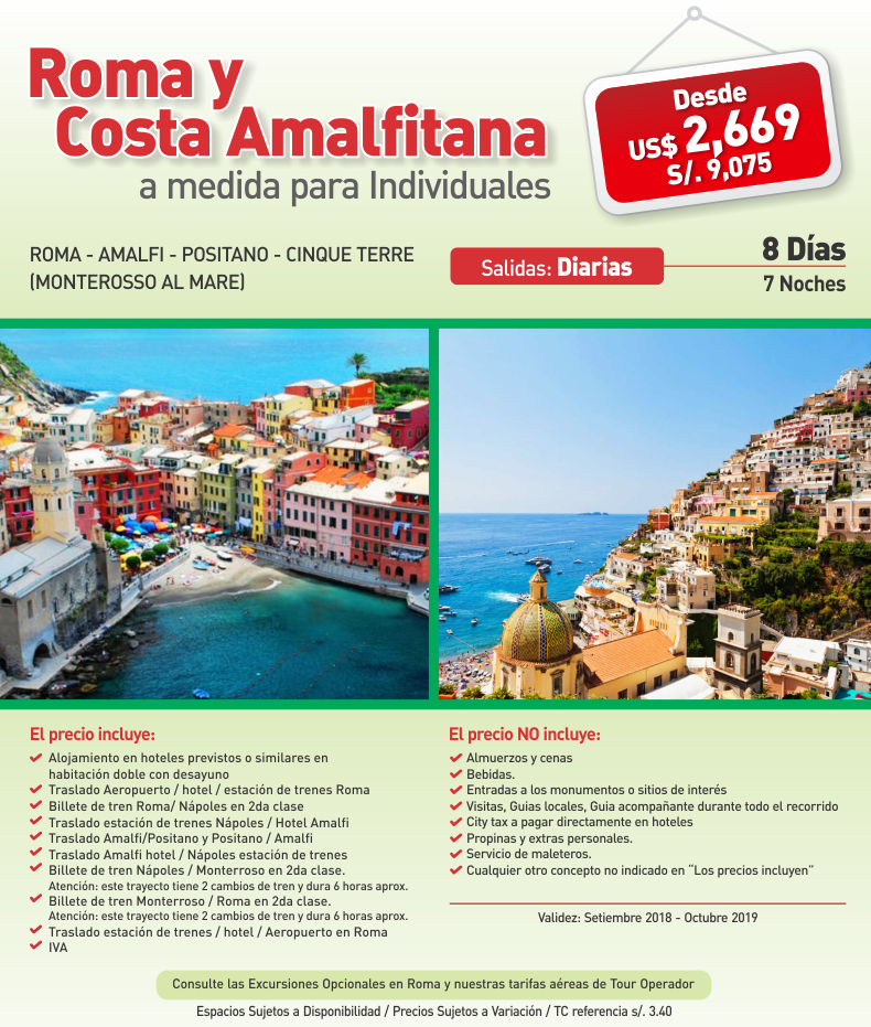 Roma y Costa Amalfitana con Carrusel Travel