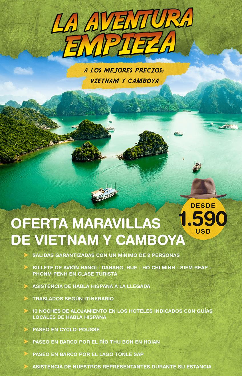 La aventura empieza en Vietnam y Camboya con Carrusel travel y Special Tours