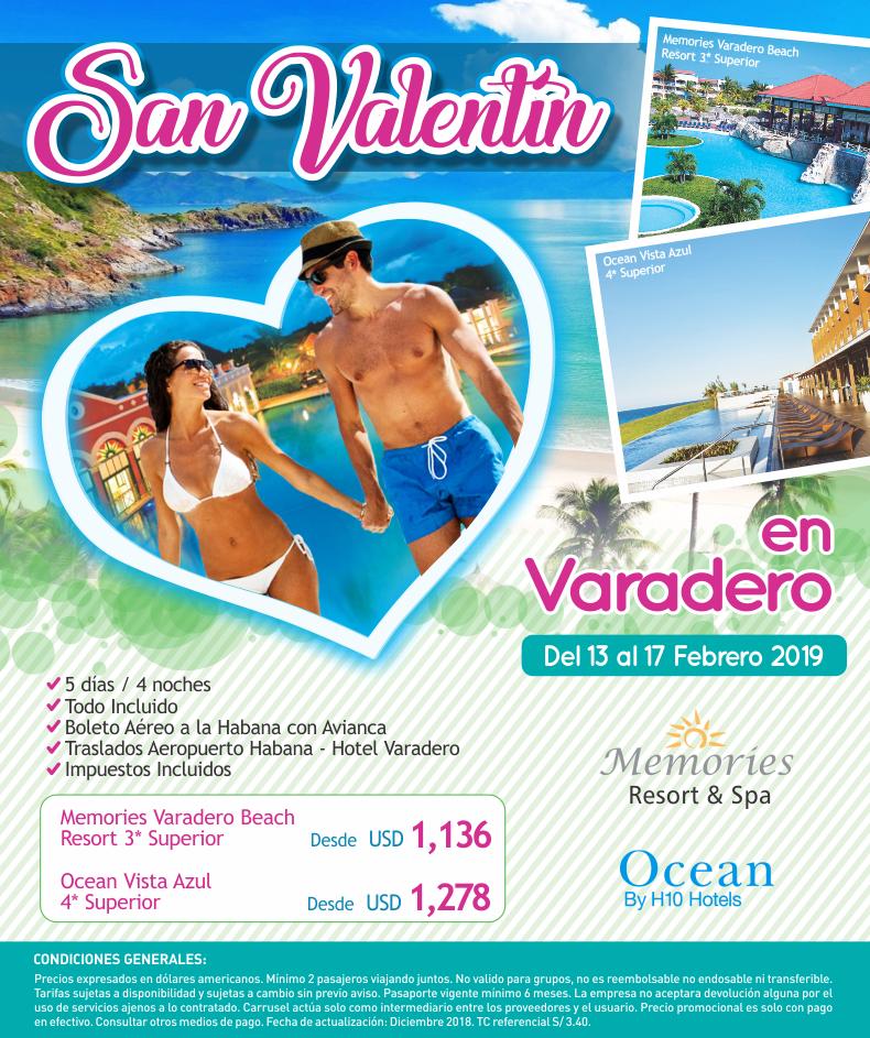San Valentín en Varadero con Carrusel Travel